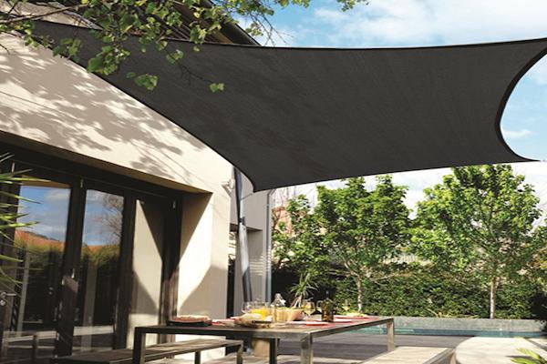 CPREMSQ540_CHARCOAL,Sonnensegel rechteckig - Sonnenschutzsegel