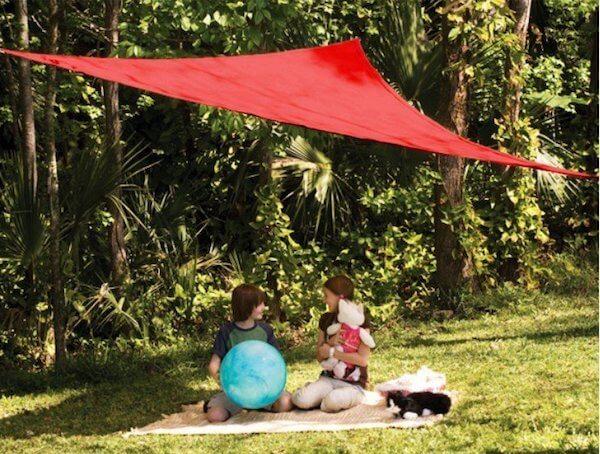 CRTHTR300_RED,Sonnenschutzsegel - Sonnensegel dreieck
