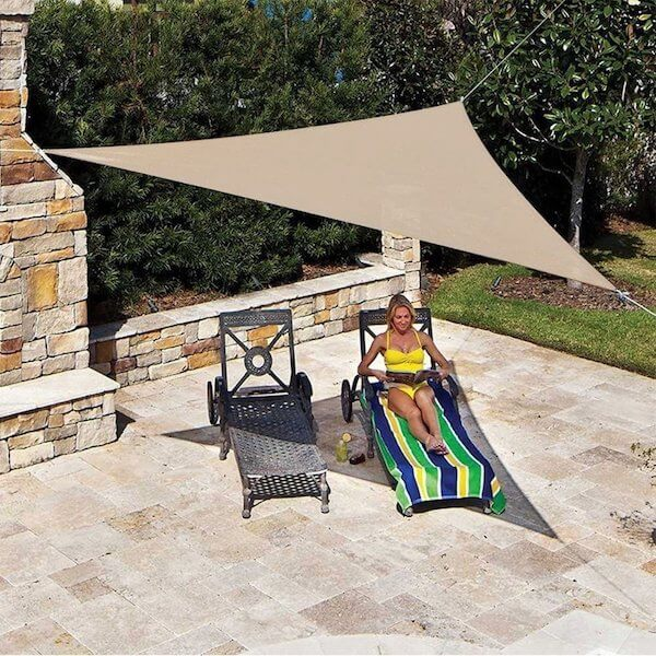 CRTHTR360_SMOKE,Sonnensegel dreieck - Sonnenschutz