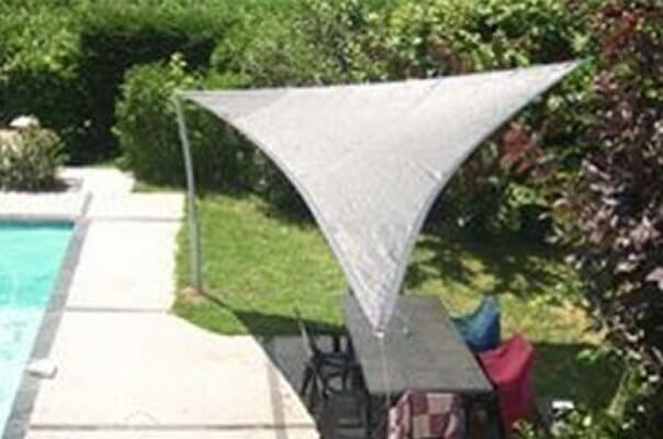 TRING360_GRIS,Sonnenschutz - Sonnensegel dreieck